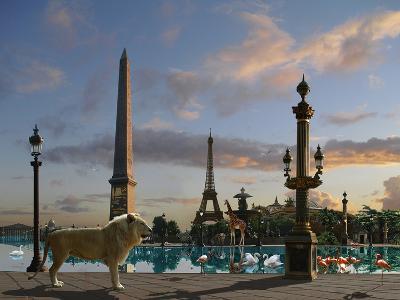Golden Lion Paris-Patrick Le Hec?h-Art Print