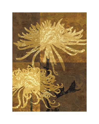 Golden Mums II-Keith Mallett-Giclee Print