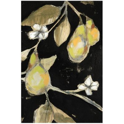 Golden Pears B - Free Floating Tempered Glass Panel Graphic Art