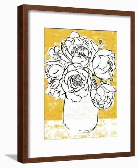 Golden Peony I-Annie Warren-Framed Art Print