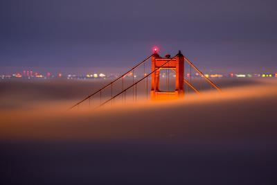 Golden Periscope - Golden Gate Bridge, San Francisco-Vincent James-Photographic Print