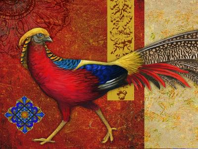 Golden Pheasant-Maria Rytova-Giclee Print