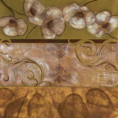 Golden Poppy Swirl-Courtland-Art Print
