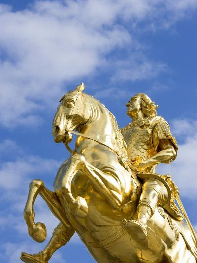 Golden Rider Equestrian Statue in Dresden-Paul Seheult-Photographic Print