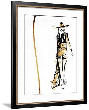Golden Runway-OnRei-Framed Art Print