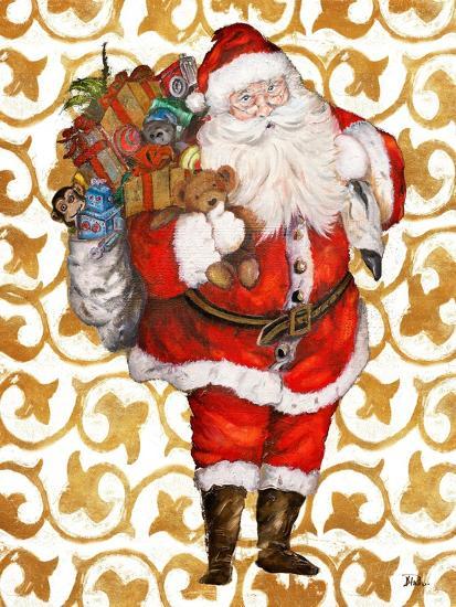 Golden Santa-Patricia Pinto-Art Print