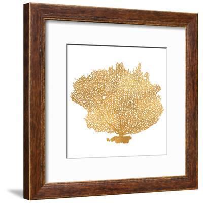 Golden Sea Fan I (gold foil)-Jairo Rodriguez-Framed Art Print