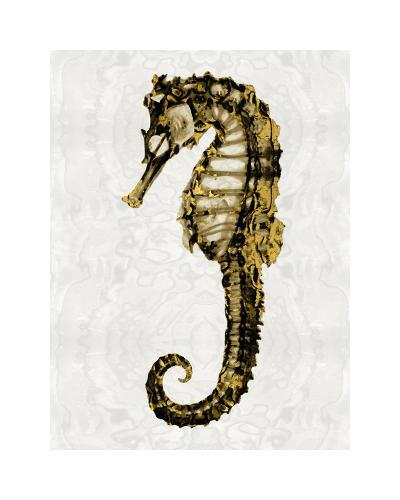 Golden Sea Horse I-Melonie Miller-Giclee Print