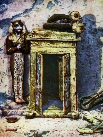 Golden Shrine in the Antechamber of Tutankhamun's Tomb, Egypt, 1933-1934-Harry Burton-Giclee Print
