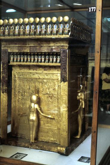 Golden Shrine of the Egyptian Pharoah Tutankhamun, C1325 Bc--Photographic Print