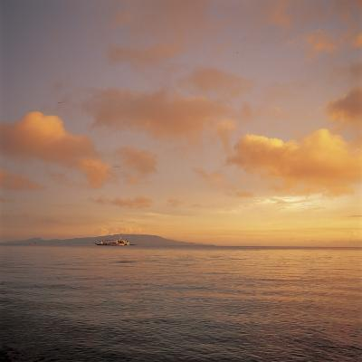 Golden Sunset Over Shimmering Ocean Waters--Photographic Print