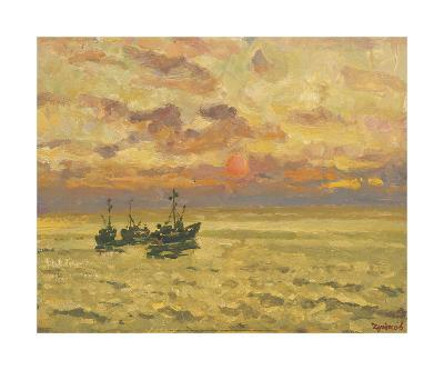 Golden Sunset-Valeriy Chuikov-Premium Giclee Print