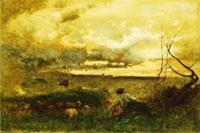 Golden Sunset-George Snr^ Inness-Giclee Print