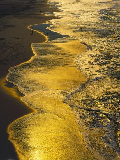 Golden Surfline, Ocean Beach, San Francisco Photographic Print by Jules  Cowan | Art com