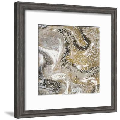 Golden Swirl 1-Kimberly Allen-Framed Art Print