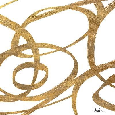Golden Swirls Square I-Patricia Pinto-Premium Giclee Print