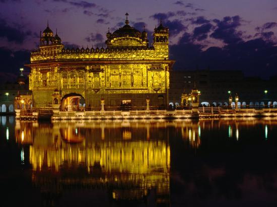 Golden Temple (Harmandir Sahib) on Waterfront, Amritsar, Punjab, India-Richard I'Anson-Photographic Print