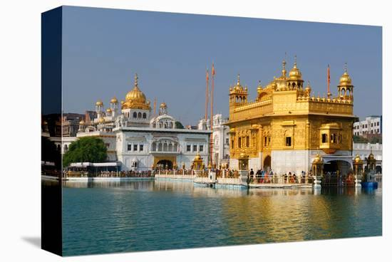 Golden Temple in Amritsar Stretched Canvas Print by | Art com