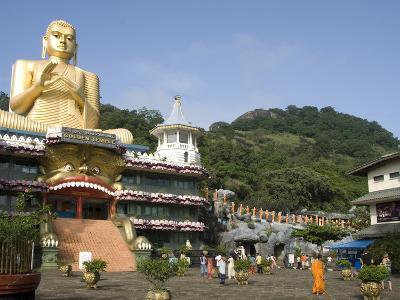 Golden Temple, With 30M High Statue of Buddha, Dambulla, Sri Lanka, Asia--Photographic Print