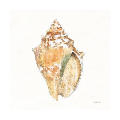 Golden Treasures V on White-Beth Grove-Art Print