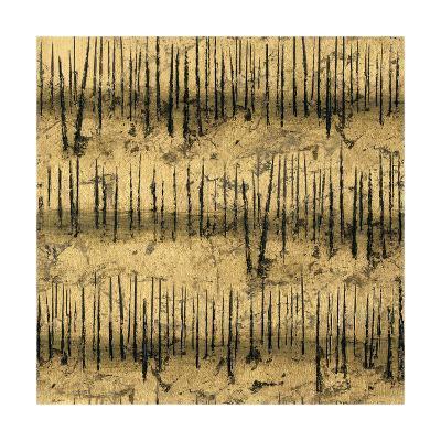 Golden Trees III Taupe Pattern II-James Wiens-Art Print