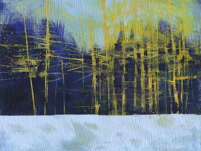 Golden Winter Pines-Paul Bailey-Premium Giclee Print
