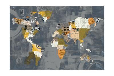 Golden World on Grey-Courtney Prahl-Art Print