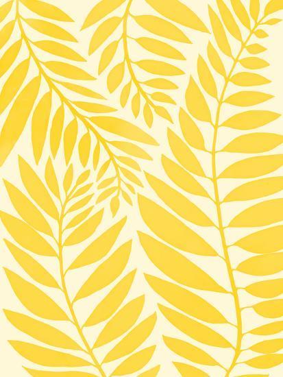 Golden Yellow Leaves-Modern Tropical-Art Print