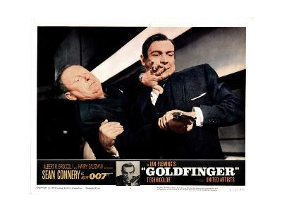 Goldfinger, from Left, Gert Frobe, Sean Connery, 1964--Giclee Print