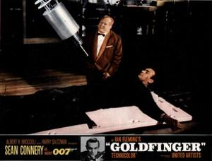 Goldfinger, from Left, Gert Frobe, Sean Connery, 1964