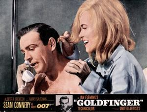 Goldfinger, from Left, Sean Connery, Shirley Eaton, 1964