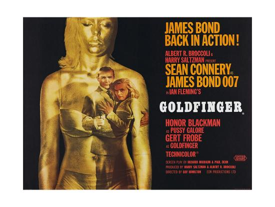 Goldfinger, Sean Connery, Honor Blackman, 1964--Giclee Print