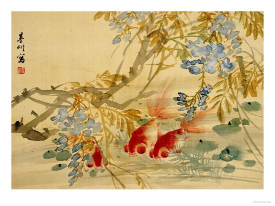 Goldfish-Ni Tian-Premium Giclee Print