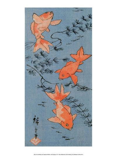 Goldfishes, 1843-Utagawa Hiroshige-Art Print