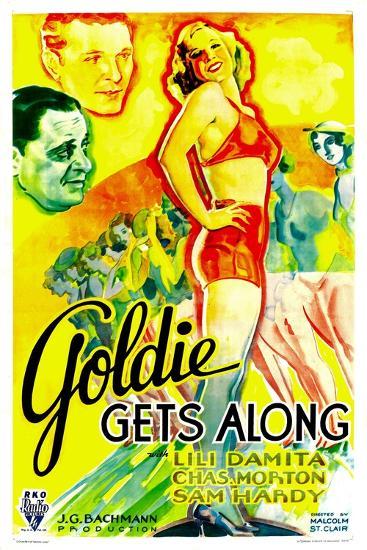 GOLDIE GETS ALONG, right: Lili Damita, 1933.--Art Print