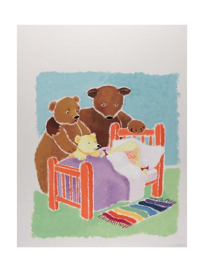 Goldilocks and the Three Bears-Susie Jenkin Pearce-Art Print