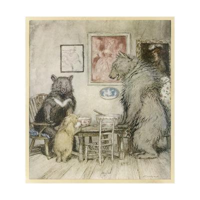 Goldilocks, Fairy Tales-Arthur Rackham-Giclee Print
