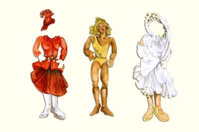 Goldilocks Paper Doll-Zelda Fitzgerald-Art Print
