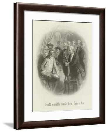Goldsmith and His Friends--Framed Giclee Print