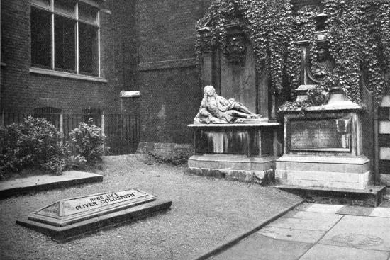 'Goldsmith's Monument in the Temple', 1907-Unknown-Giclee Print