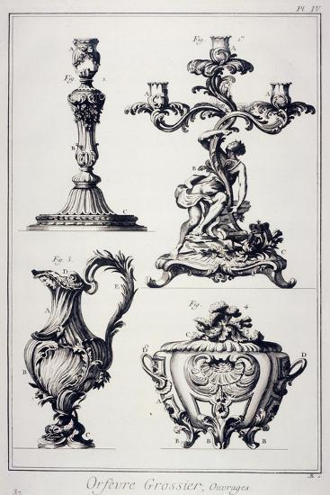 Goldsmith's or Silversmith's Pieces--Giclee Print