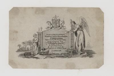 Goldsmiths and Silversmiths, Taylor and Perry, Trade Card--Giclee Print
