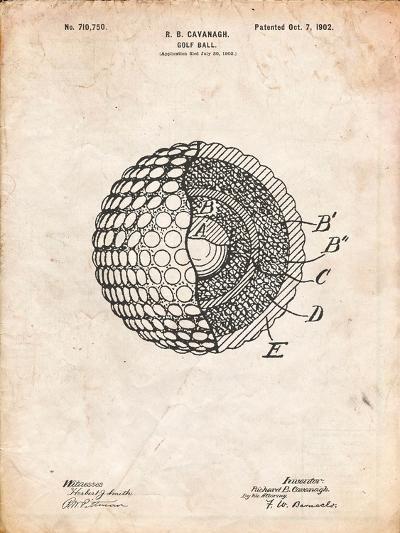 Golf Ball 1902 Patent-Cole Borders-Art Print