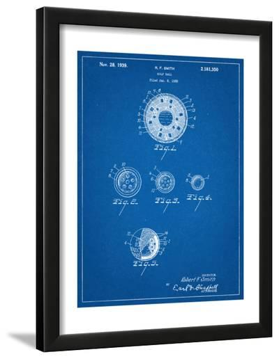 Golf Ball Patent--Framed Art Print