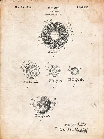 Golf Ball Patent-Cole Borders-Art Print