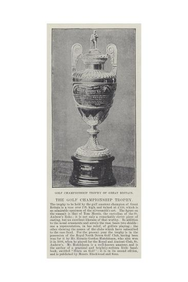 Golf Championship Trophy of Great Britain--Giclee Print
