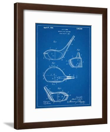 Golf Club Driver Patent--Framed Art Print