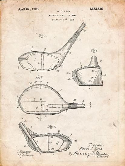 Golf Club Driver Patent-Cole Borders-Art Print