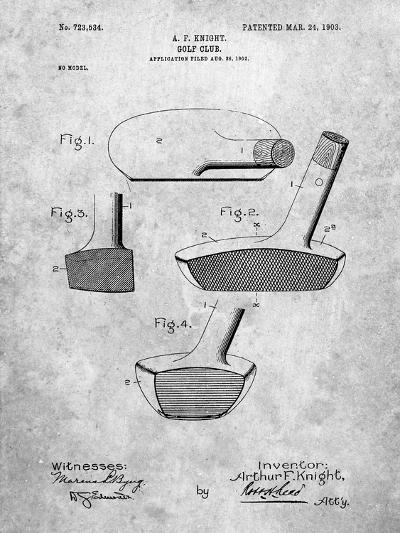 Golf Club Putter Patent-Cole Borders-Art Print