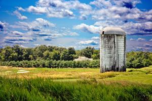 Golf Course and Silo Upstate NY